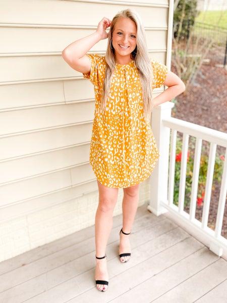 PLUS/REG Short Sleeve Solid & Leopard Dress (Multiple Colors)