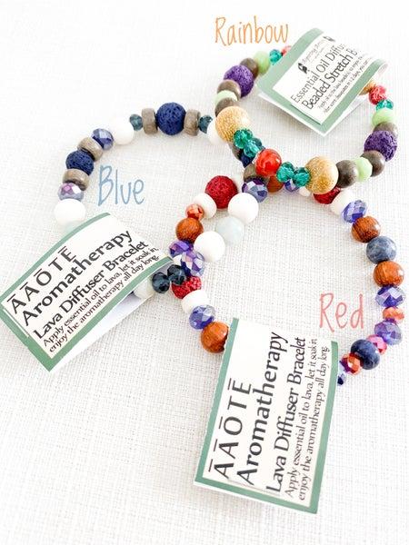 **Lava Diffuser Beaded Stretch Bracelets (multiple colors)