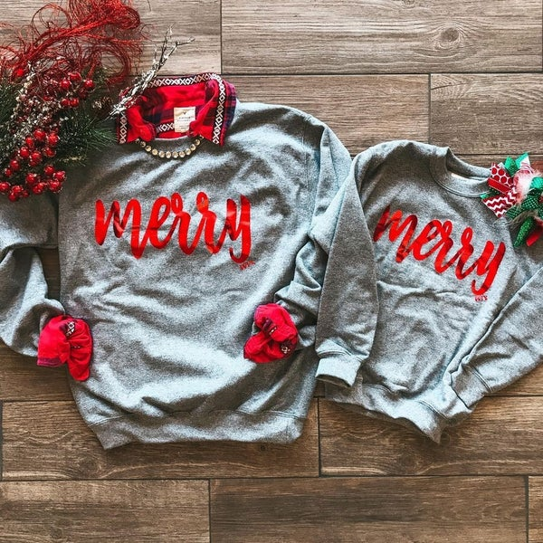Merry Sweatshirt (Adult and Youth)