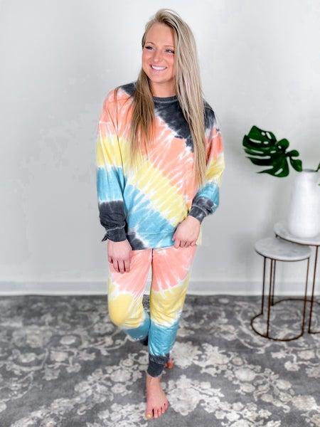 PLUS/REG Rainbow Tie Dyed  Lounge Set