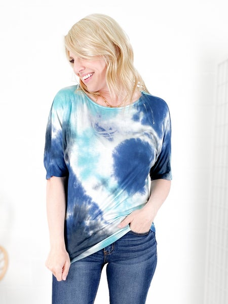 Tie Dye Ruched Top