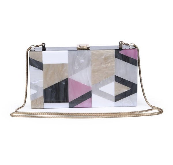 Multi Deco Box Clutch