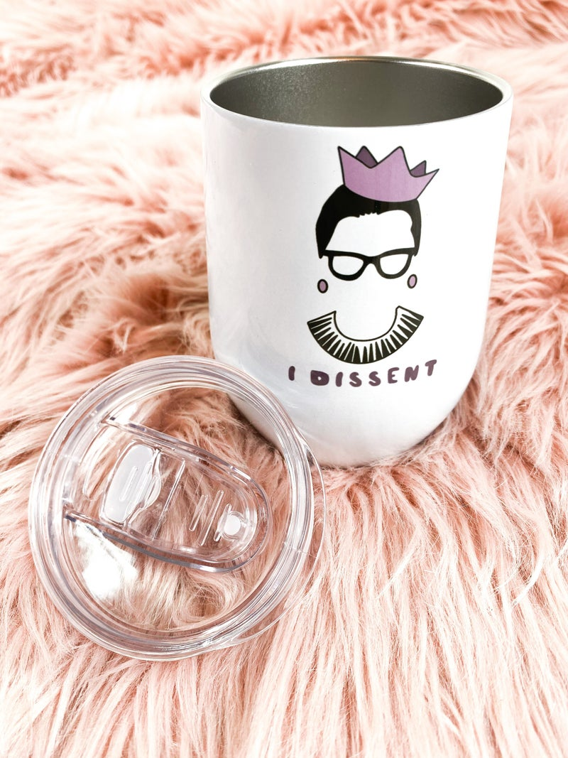 RBG I Dissent Travel Wine Cup