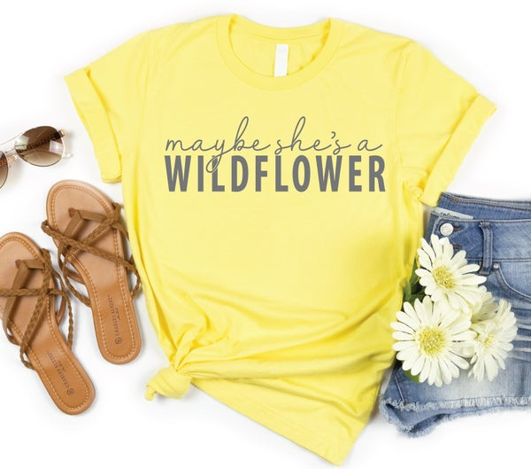 Maybe She's a Wildflower Yellow Graphic