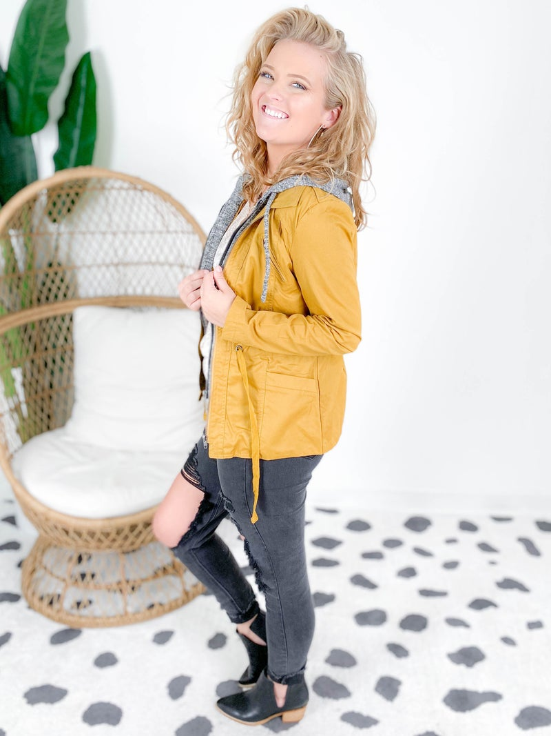 DOORBUSTER Layered Utility Jacket With Hood (Multiple Colors)