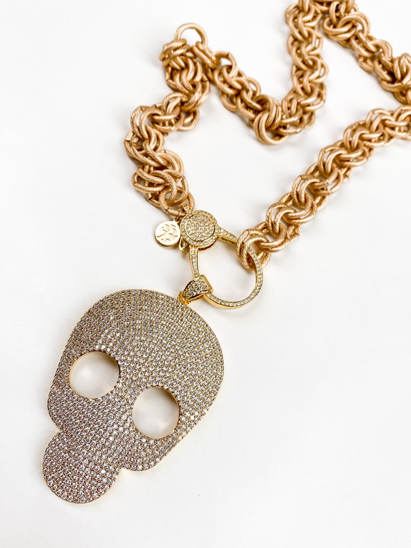 RESTOCK!!! Karli Buxton Skull Pave Pendant (Multiple Colors)