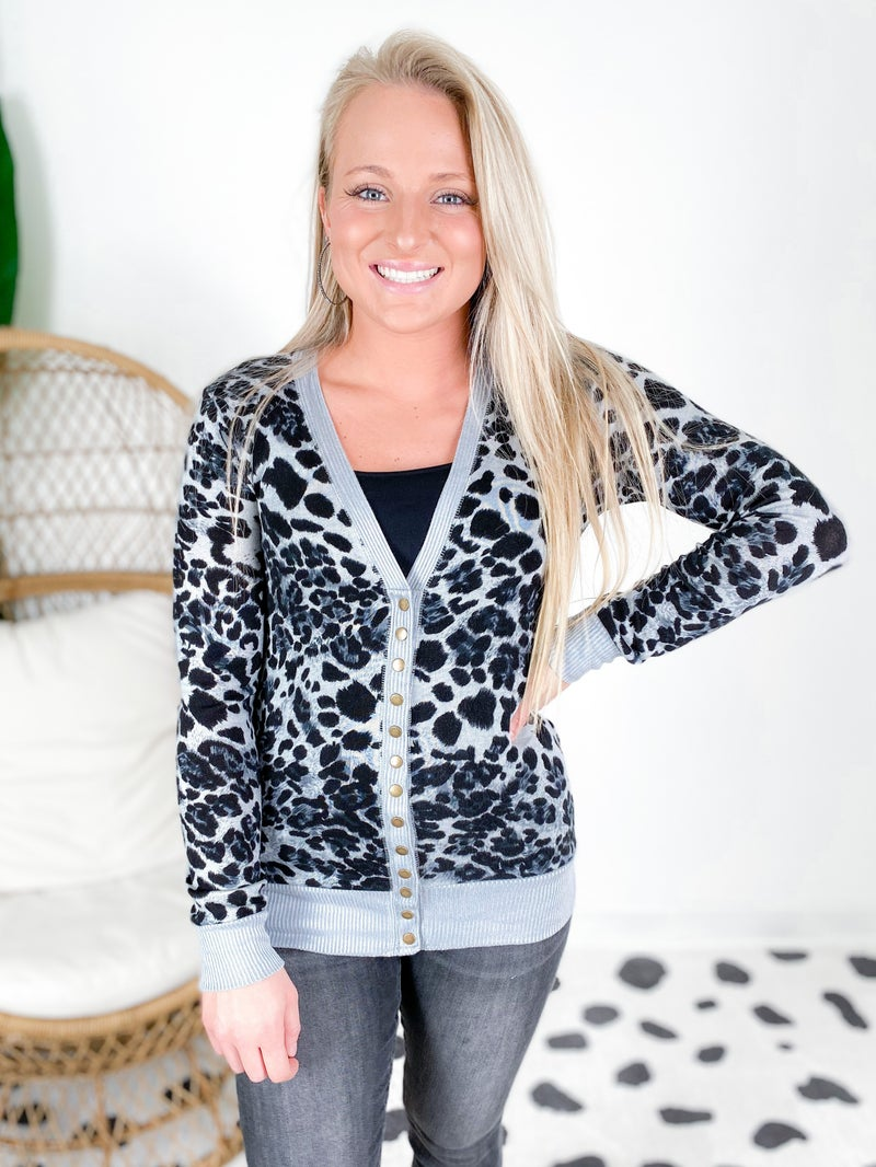 Door Buster! Leopard Snap Button Cardigan (Multiple Colors)