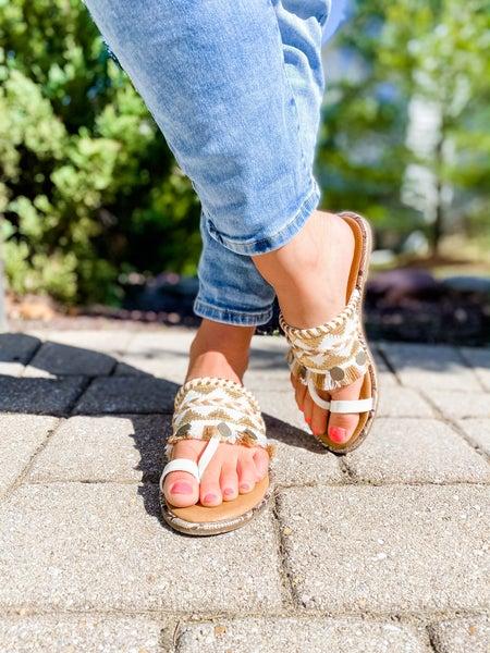 Embellished Slide Sandals (Multiple Colors)