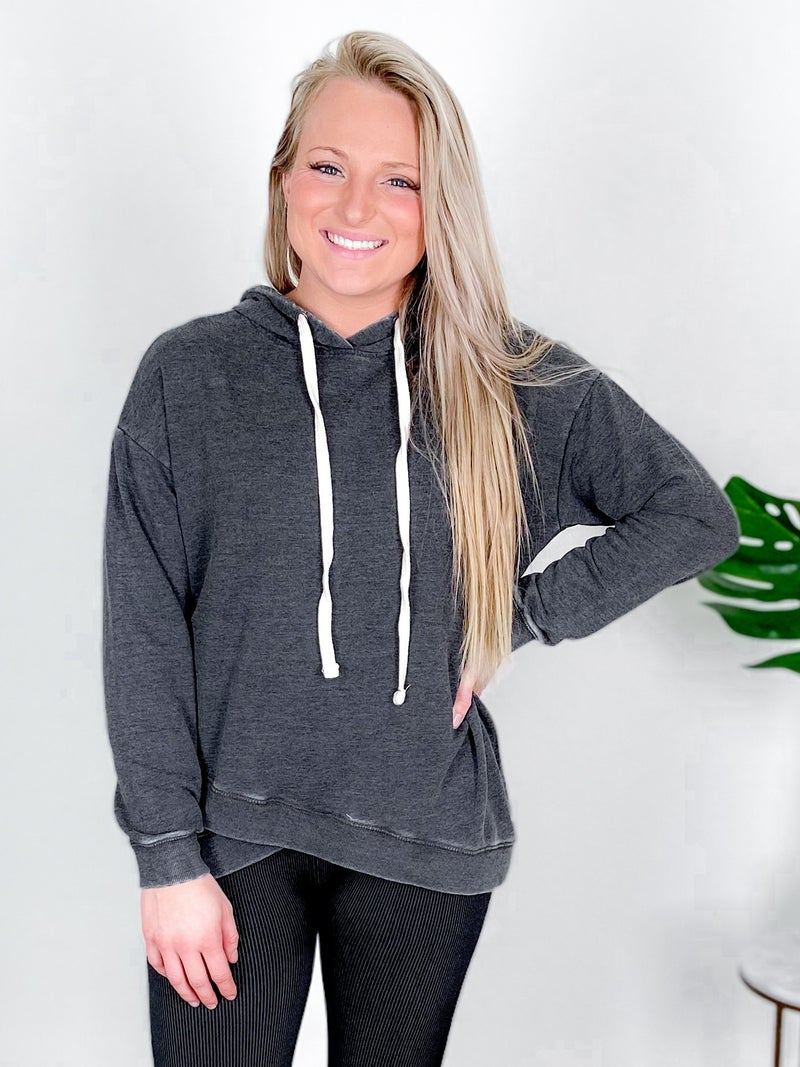 PLUS/REG Solid Charcoal  Hoodie Sweatshirt