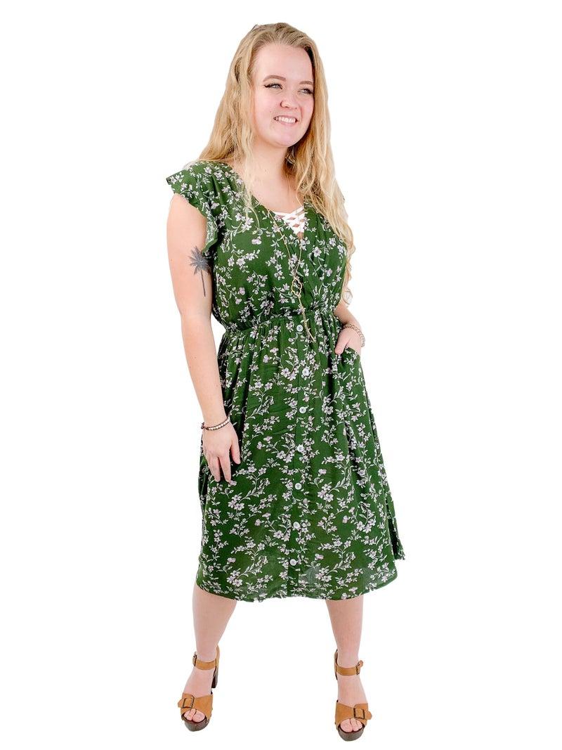 Floral Dress (Multiple Colors)