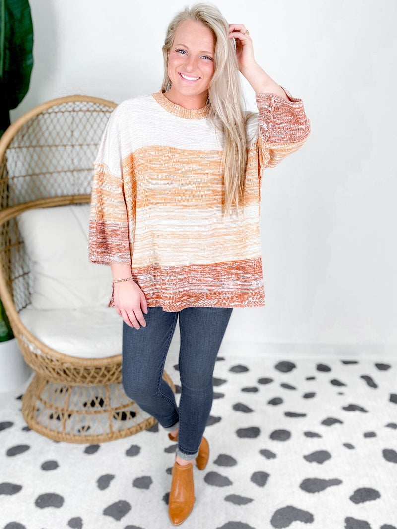 Multi Color Knit Pull Over Sweater (Multiple Colors)