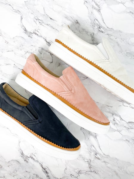 Slip On Suede Sneakers (Multiple Colors)