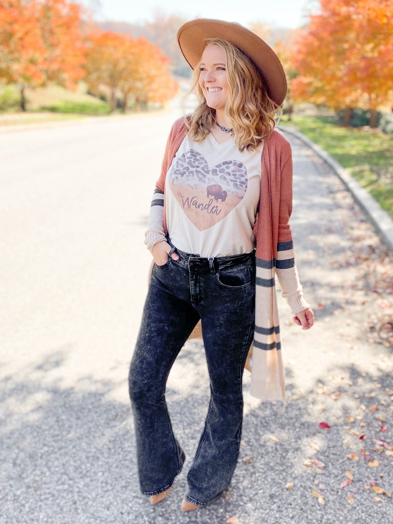 KanCan With The Band High Rise Black Flare Jeans