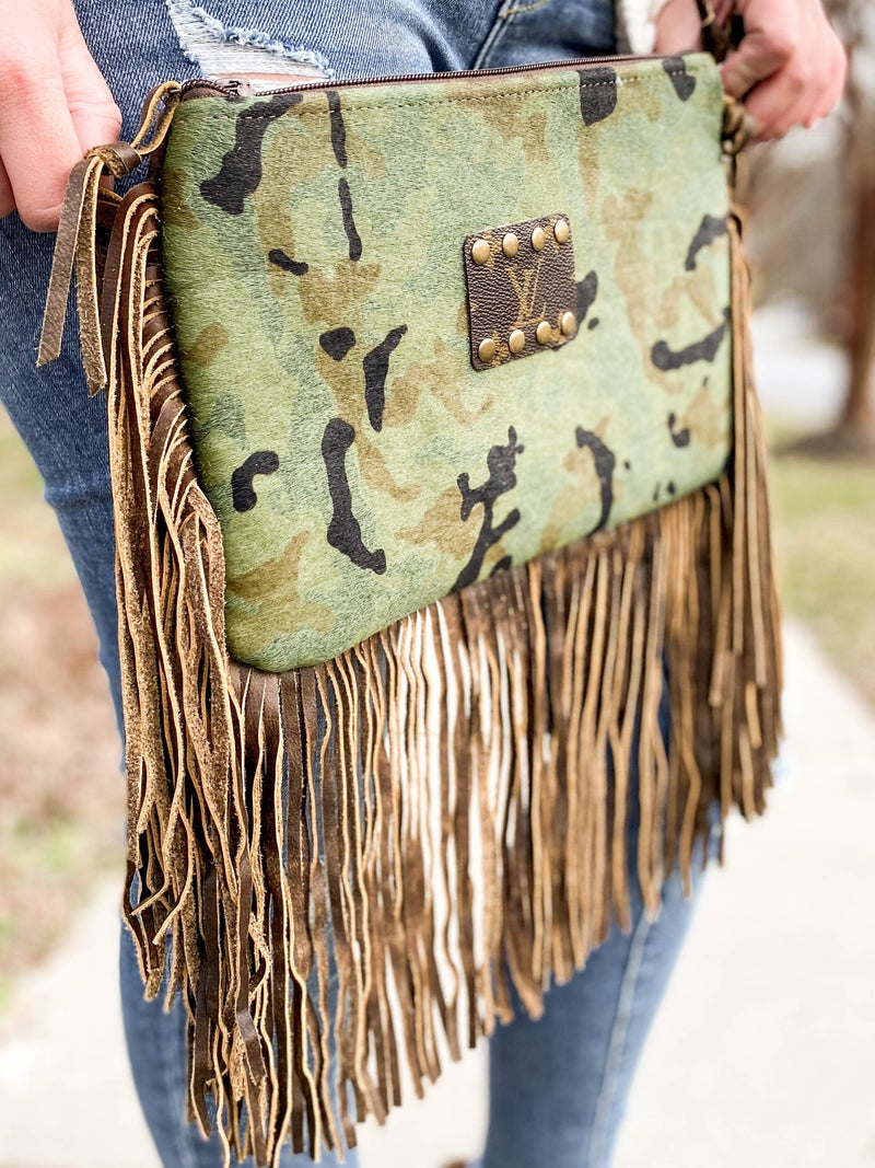 Keep it Gypsy Upcycled Authentic LV Crossbody Purse