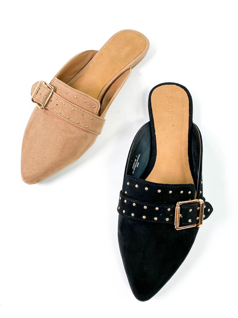 Studded Pointed Slides (Multiple Colors)