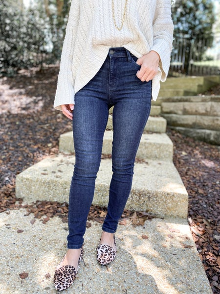 Plus/Reg Judy Blue Everyday Wear 2.0 High Waist Non-Distressed Skinny Jeans