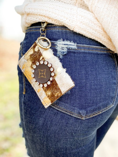 Keep It Gypsy Upcycled LV card wallet