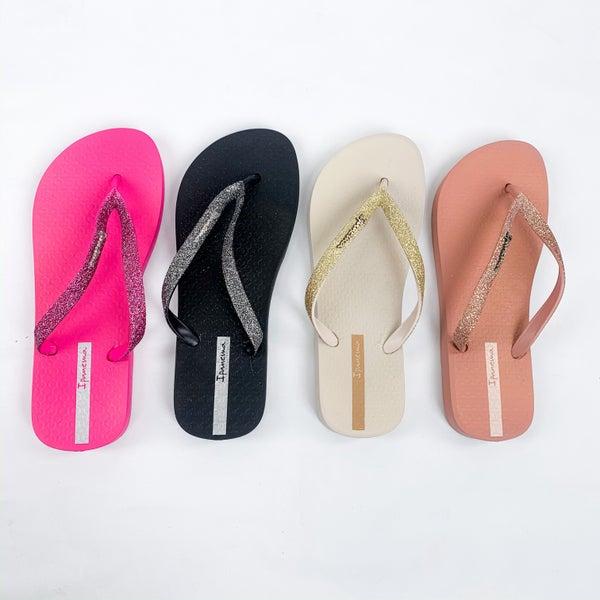 Glitter Flip Flop Sandals (Multiple Colors)