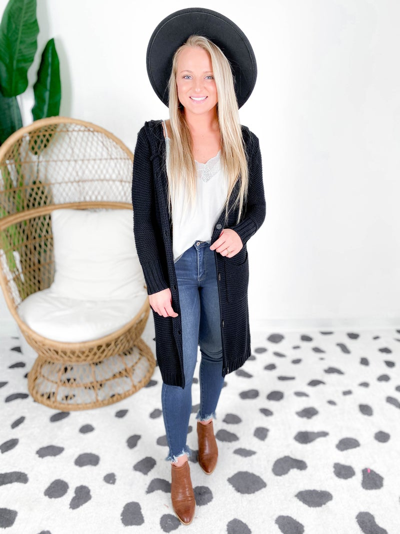 Cozy Slouchy Maxi Button Down Cardigan (Multiple Colors)