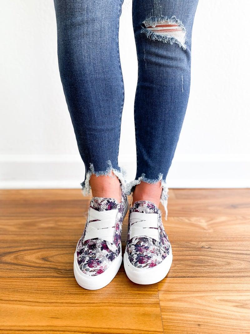 Blowfish Violet Floral Sneakers