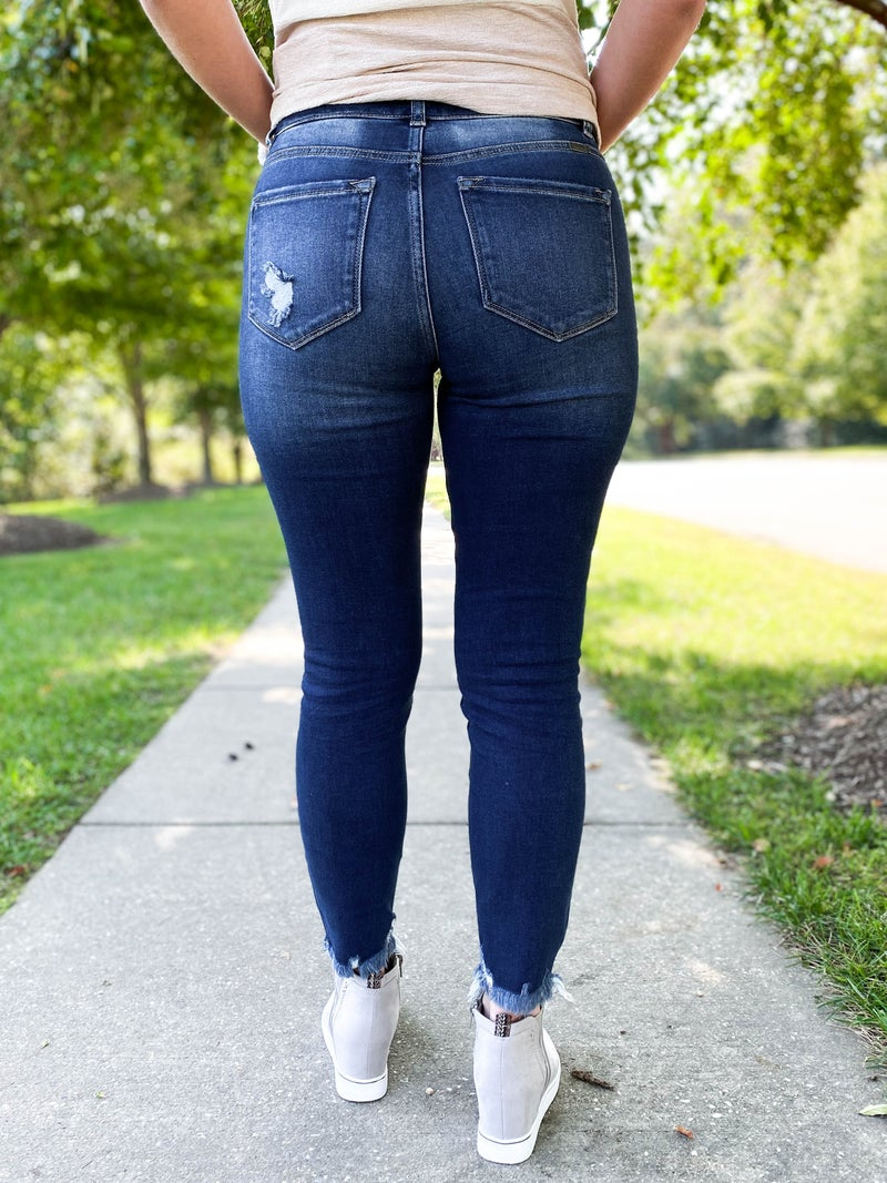 PLUS/REG Kancan Double the Fun Two Button High Rise Jeans