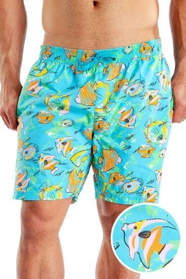 Fish Bowl Mens Swim Trunks