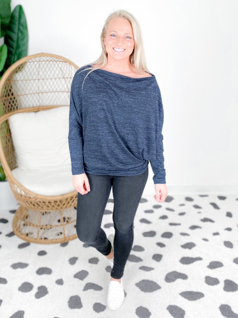 PLUS/REG Off Shoulder Dolman Top (Multiple Colors)