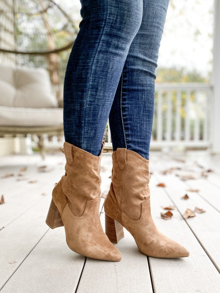 Western Suede Boots (multiple colors)