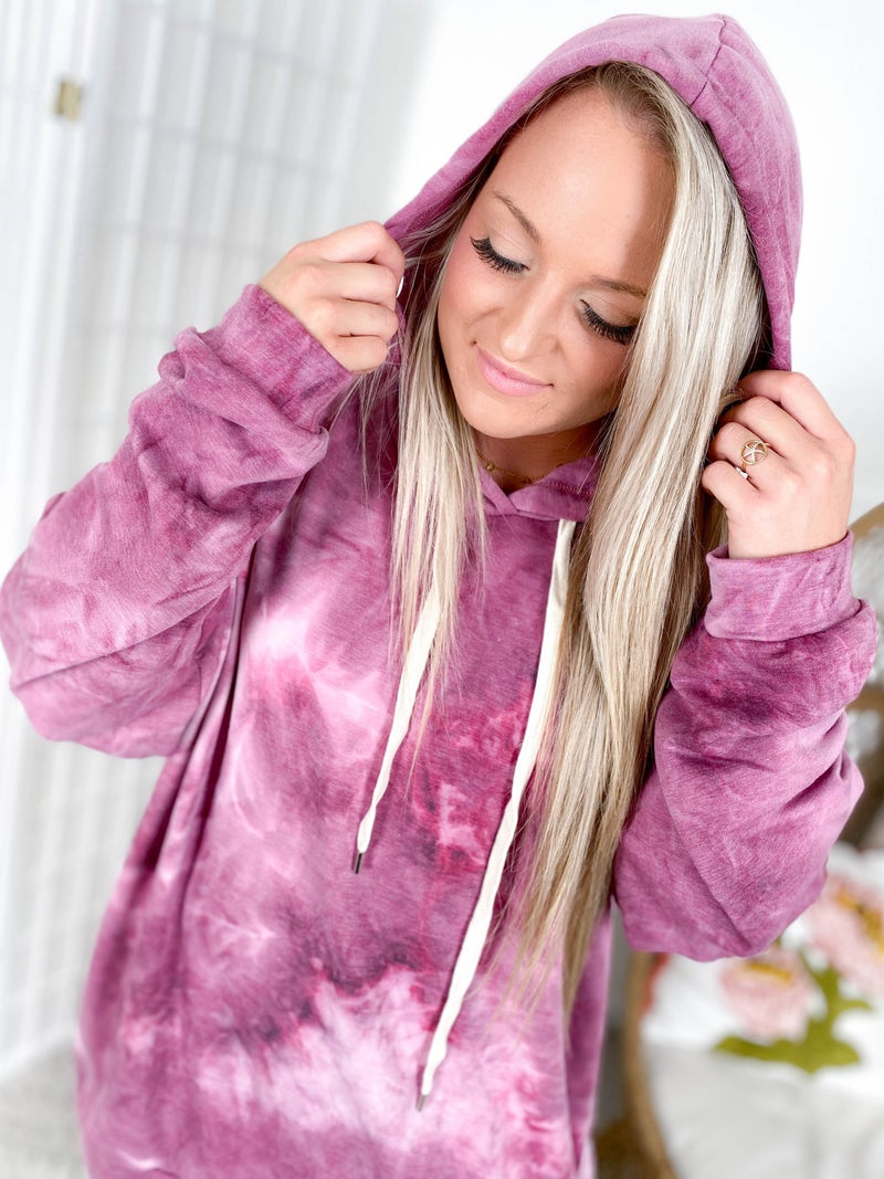 PLUS/REG Unicorn Soft Burgundy Hoodie Top