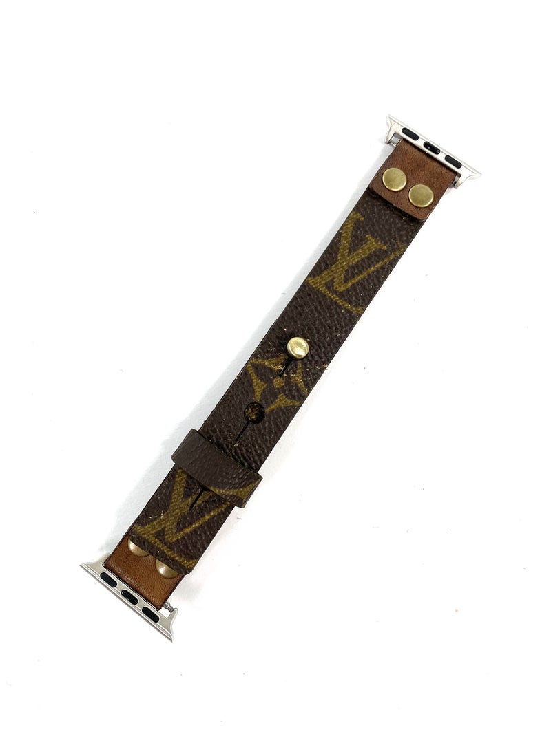 Keep it Gypsy Upcycled Authentic LV Genuine Leather Apple Watch Band