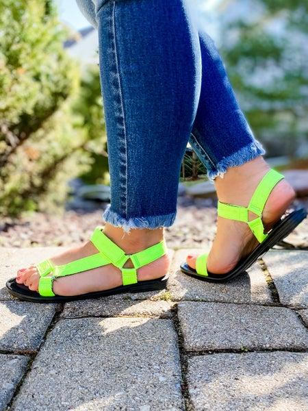 Velcro Strap Sandals (Multiple Colors)