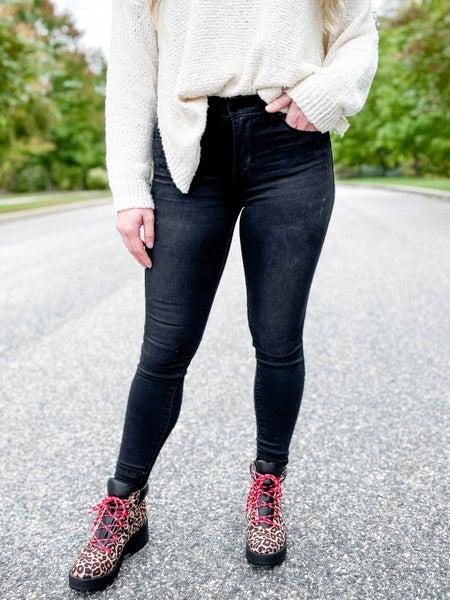 POPPY DAY!!! PLUS/REG C'est Toi Black Label LBD (Little Black Denim) Non-Distressed Jeans
