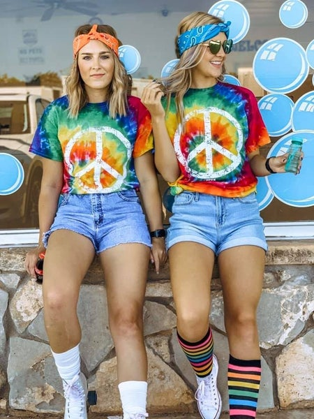 peace and tie dye