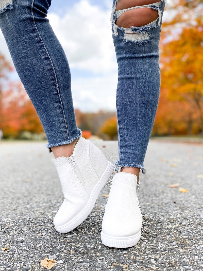 High Top Wedge Sneaker (Multiple Colors)