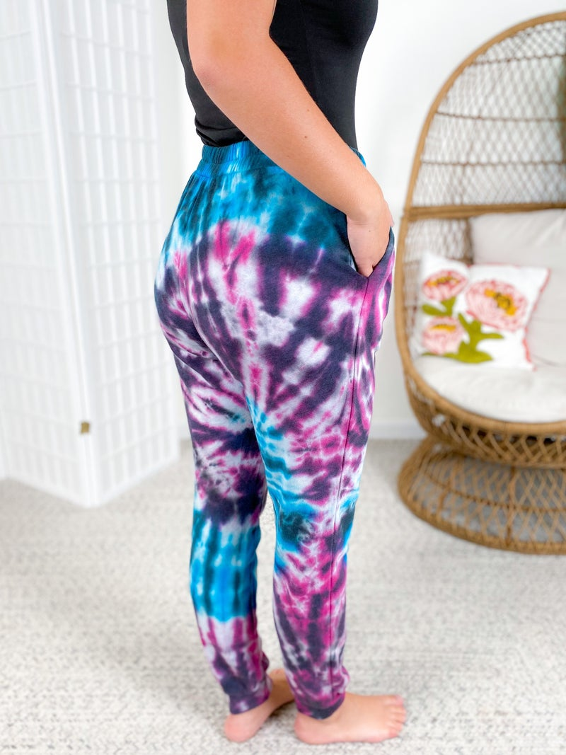 French Terry Tie Dye Jogger Pants (Multiple Colors)