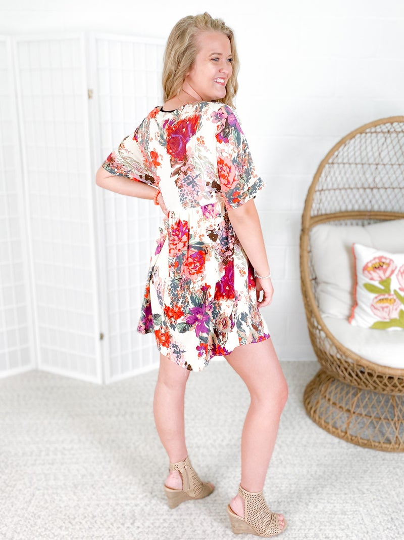 PLUS/REG Floral Babydoll Dress