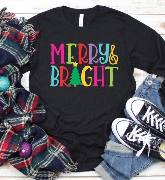 Merry and Bright Long Sleeve TriBlend