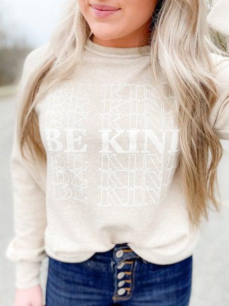 PLUS/REG Be Kind Oatmeal Graphic Sweatshirt