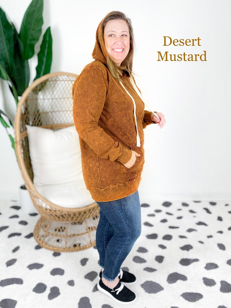 Door Buster! PLUS/REG Zenana Mineral Wash Hoodie (Multiple Colors)