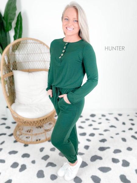 Door Buster! PLUS/REG Zenana Jogger Jumpsuit with Pockets (Multiple Colors)