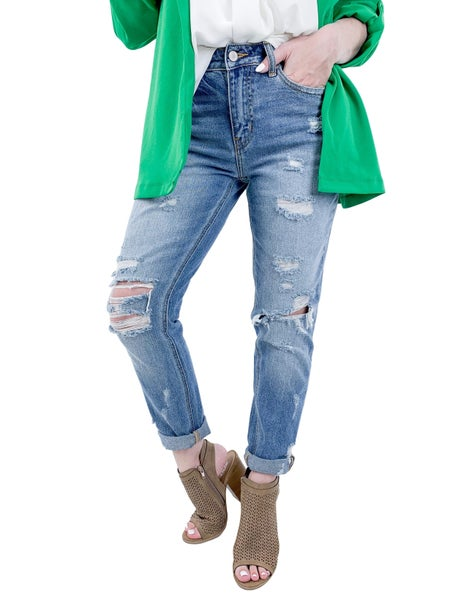 KanCan Tradition with a Twist Girlfriend Jeans (100% Cotton)