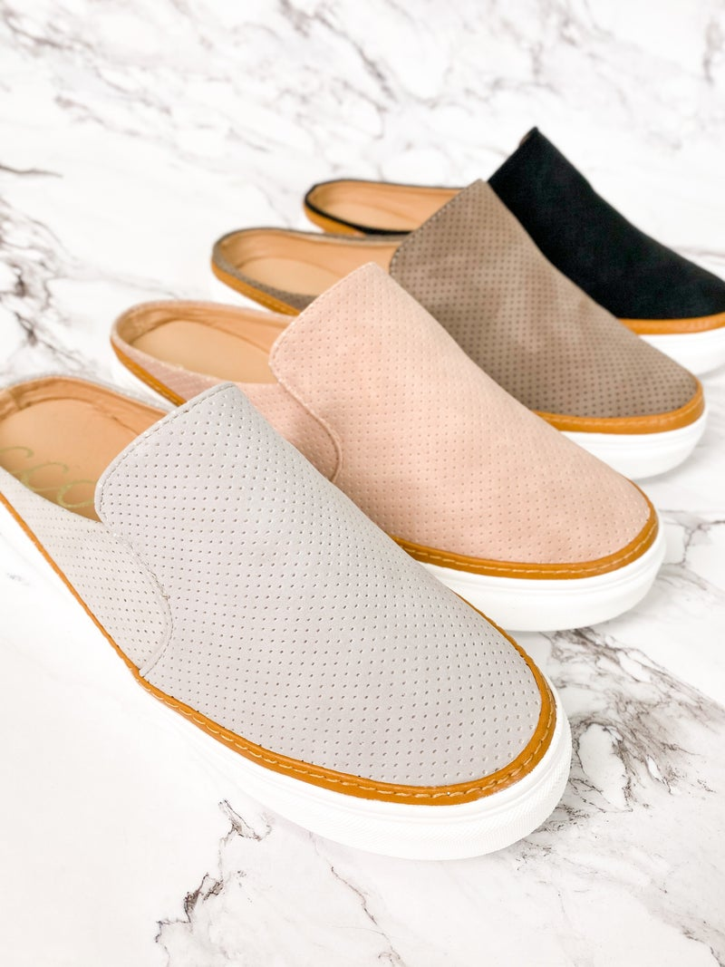 RESTOCK!! Perforated Slide Sneakers (Multiple Colors)