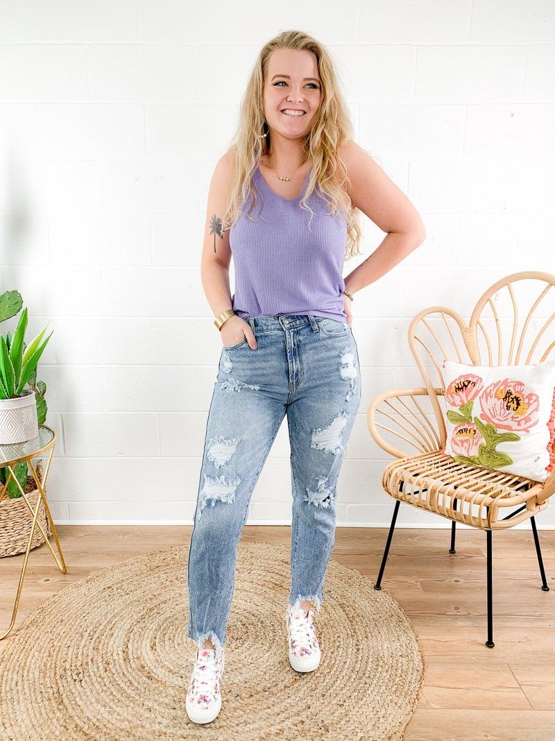 Celebrity Pink Brenda Walsh High Rise Acid Wash Jeans