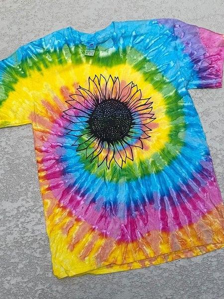 Tie Dye Sunflower