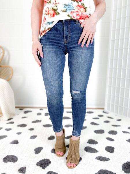 C'est Toi Shorty Girl Dark Wash Jeans