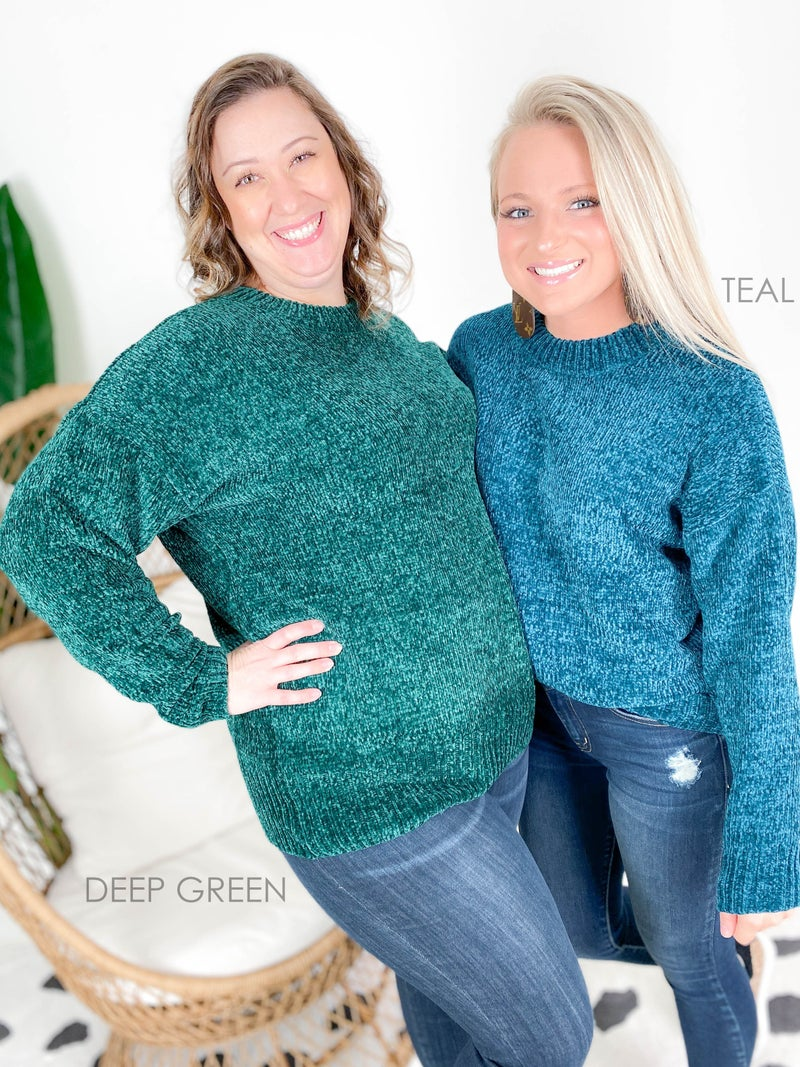 Door Buster! PLUS/REG Zenana Chenille Knit Sweater (Multiple Colors)
