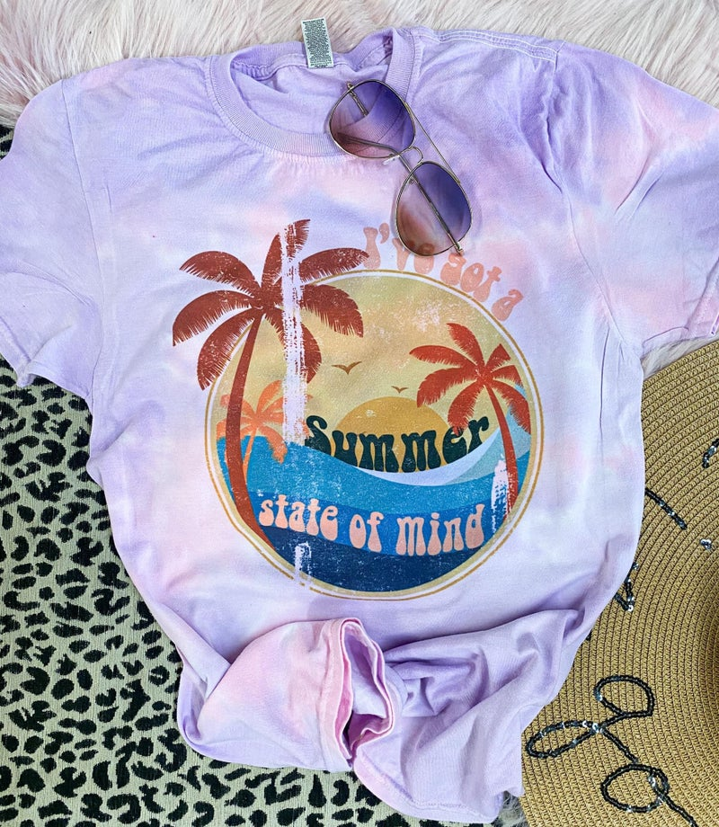 Summer State Of Mind Tie Dye Graphic