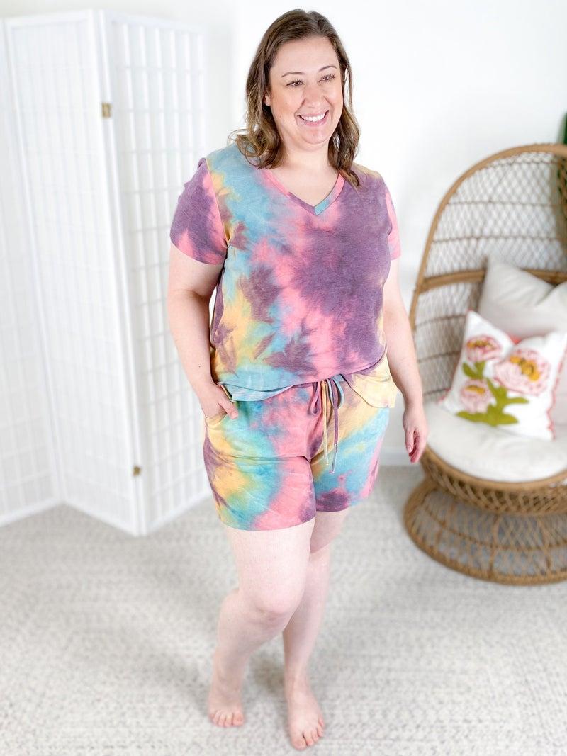 PLUS/REG Honeyme Moody Tie Dye Lounge Set