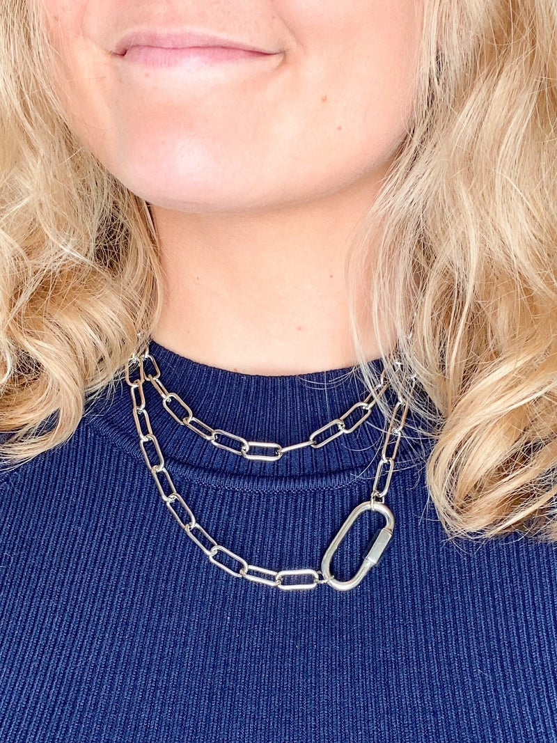 Paperclip Chain Necklace (Multiple Colors)