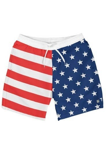 Stars & Stripes Mens Swim Trunks